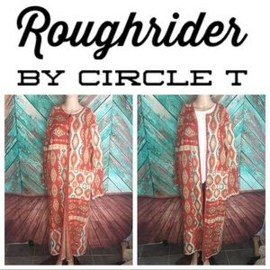 Roughrider Patchwork Navajo Knit Duster